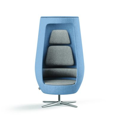 Loungesessel A11 in blau frontal
