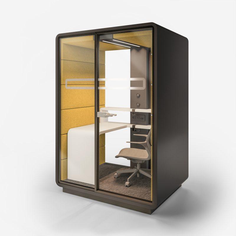 Smartphone Box XL außen weiß / gelb