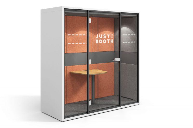 Just Booth weiß orange