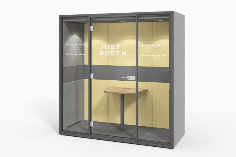 Meeting Cube in anthrazit / gelb